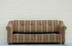 Breath new life into an old couch with a slipcover