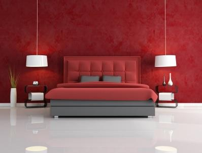 Hotel Bedroom Design on Red Bedrooms