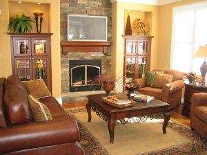 warm, neutral family room paint color