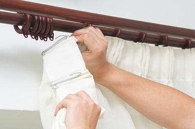 painted wood curtain rod