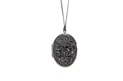 pewter locket