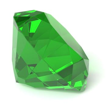 Faceted emerald