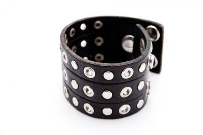 Studded leather bracelet; copyright David Badenhorst at Dreamstime.com
