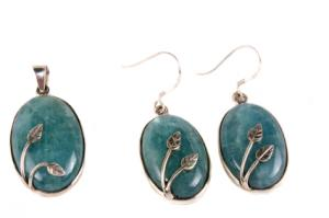 Aquamarine and sterling silver jewelry