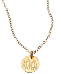 Miriam Merenfeld gold initial pendant necklace