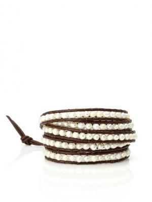 Pearl Leather Wrap Bracelet at Amazon.com