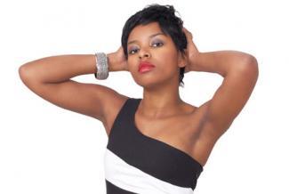 Bracelet with one shoulder dress