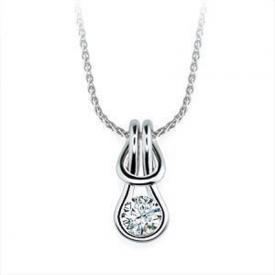 Everlon Diamond Love Knot Necklace