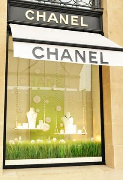 Chanel shop on Champs-Elysees in Paris.