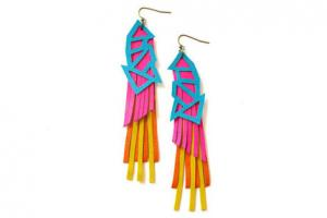neon earrings