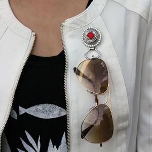Eyeglass magnetic brooch