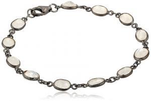 Faceted Rainbow Moonstone Bracelet at Amazon.com