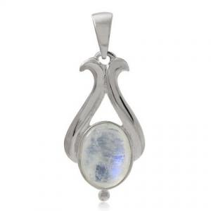 Natural Moonstone Solitaire Pendant at Amazon.com