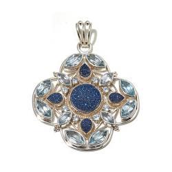 Drusy quartz pendant