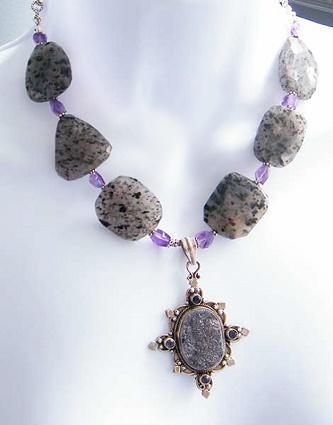 Drusy Quartz necklace