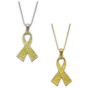 yellow ribbon necklace