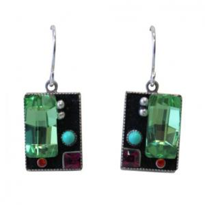 Firefly Architectural Mirrored Swarovski Crystal Hand Crafted Earrings