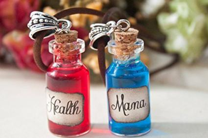 Health and Mana Potion Pendant Set