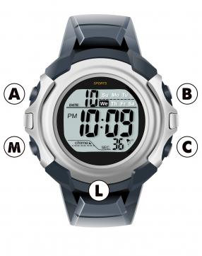 digital watch diagram