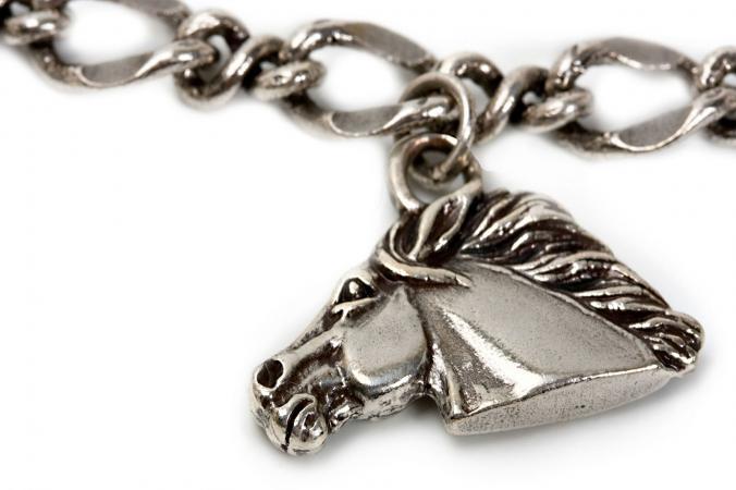 Silver horse jewelry pendant