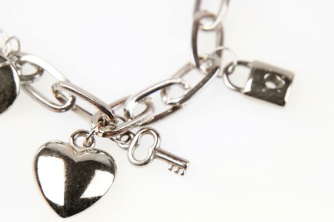 Sterling silver heart charm