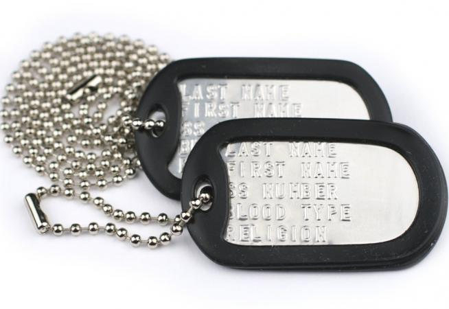 Dogtags with silencers