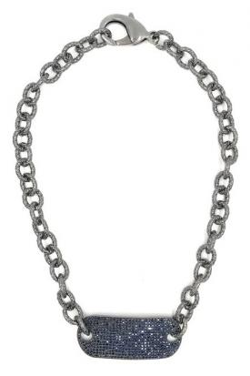 Ashley Gold Sterling Silver With Spinel Stones Plate Necklace