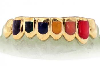 Candy Paint Eight Teeth Grill Six With Enamel at Johnny Dang