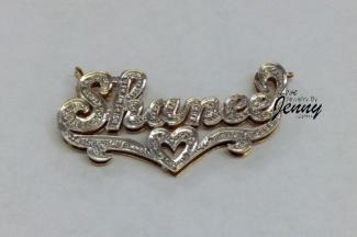 Gold Plated Personalized Name Plate Necklace at Love Jewelry by Jenny