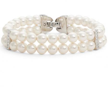 Double Row Imitation Pearl Bracelet NADRI