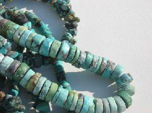 Natural turquoise is found in many shades