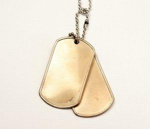 Gold DogTag Necklaces