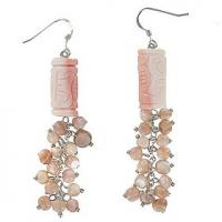 Conch Shell Carved Earrings