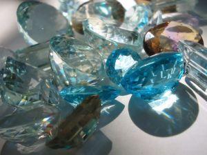 Aquamarine is found in many shades