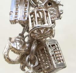 Silver charms make lovely bracelets
