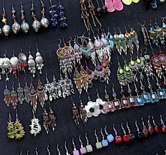 Hypoallergenic earrings can be colorful and fashionable.