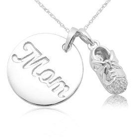 mom baby necklace