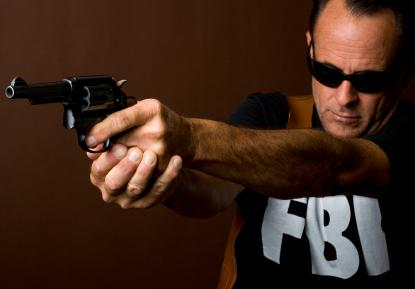 FBI agent shooting gun