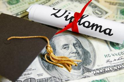 diploma and money