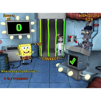 What are some SpongeBob SquarePants games for kids?