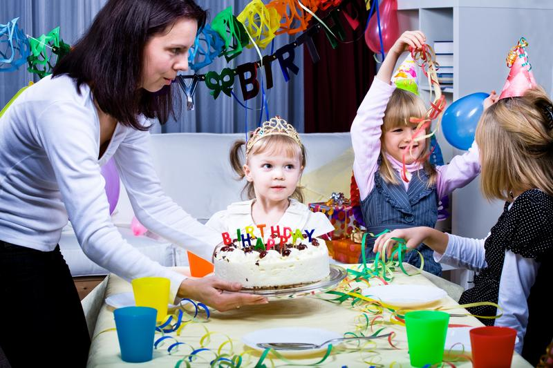 Birthday Party With Simple Cake Copyright Val Tmer At Dreamstime Com