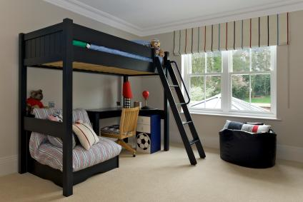 boys room loft bed This would look so nice for my sons room want