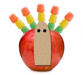 turkey apple thanksgiving craft for kids