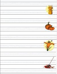 Fall handwriting paper
