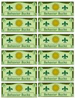 classroom bucks template - behavior dollars images frompo 1