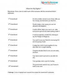 Printables Bill Of Rights Worksheets bill of rights for kids match the amendment