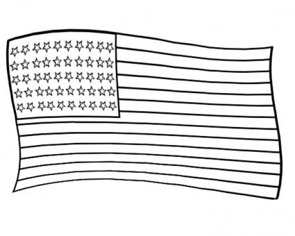 4th of july flag coloring pages | Fourth of July Coloring Pages