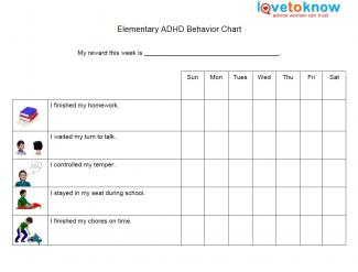 elementary behavior chart for adhd