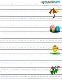 spring half spaced handwriting worksheet