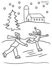 Ice Skaters coloring page